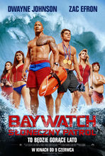 Movie poster Baywatch. Słoneczny patrol