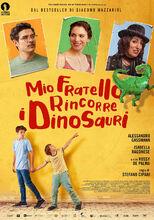 Plakat filmu Mój brat ściga dinozaury